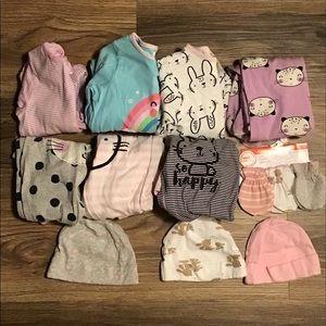 Mixed size girls onesie bundle